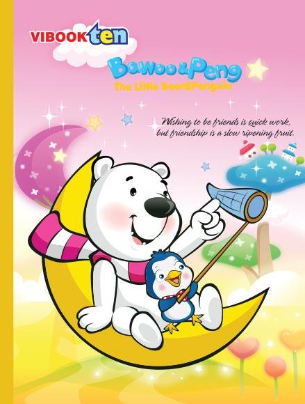 Tập ViBook ten Gấu Bo in caro