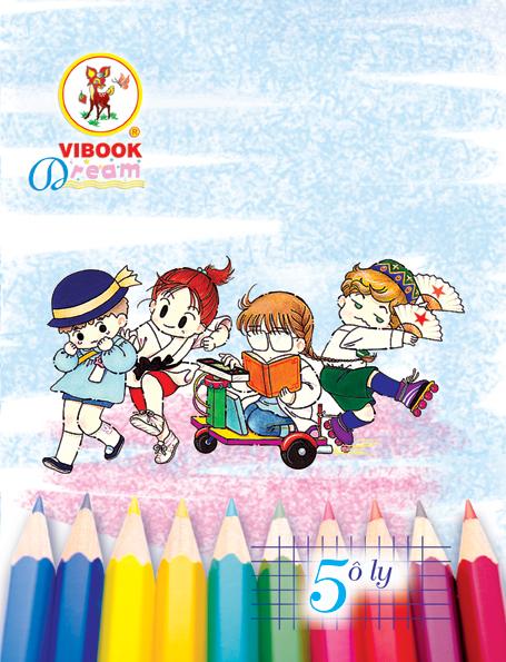 Tập ViBook Dream Bút chì 100 trang in caro oly