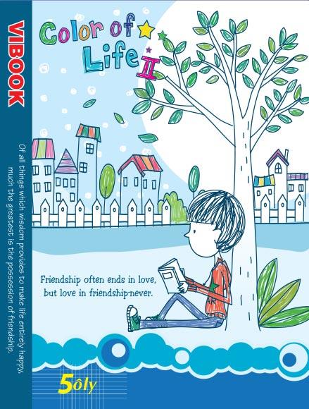 Tập ViBook Happy 96 trang Color of life in caro