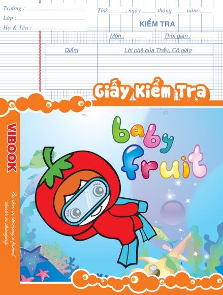 Tập ViBook Kiểm Tra Baby Fruit 84Trang ĐL100