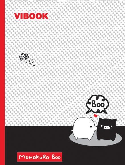 Tập ViBook Happy 96 trang Mono Kuro Boo in caro