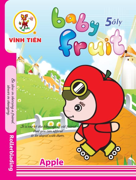 Tập ViBook Gold 100 trang Baby Fruit in caro