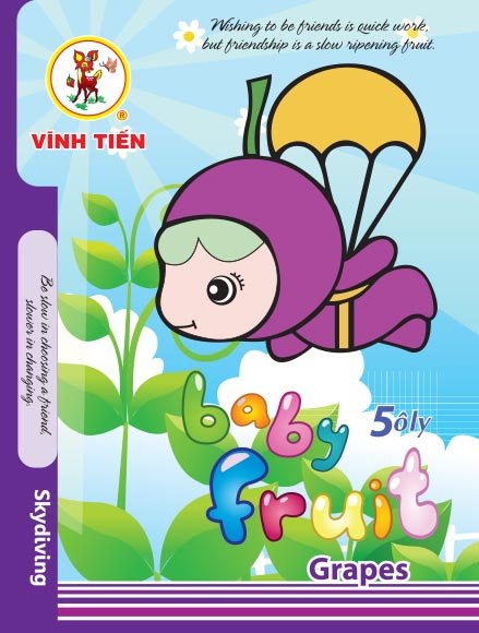 Tập ViBook Gold 100 trang Baby Fruit in oly