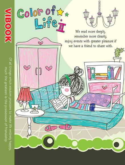 Tập ViBook 200Trang Color of life in caro