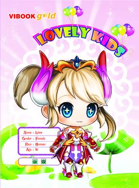 Tập ViBook Gold 100 trang Lovely kids