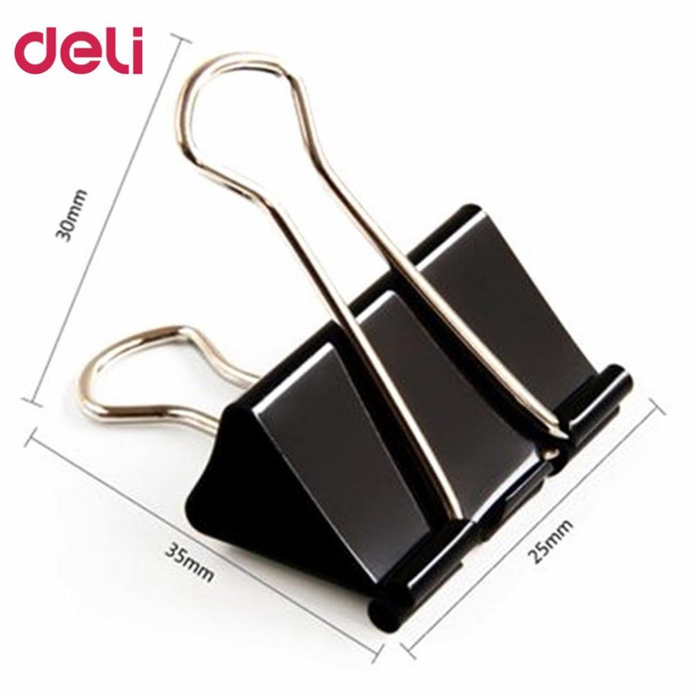 Kẹp Sắt Đen 25 mm Deli - 9544