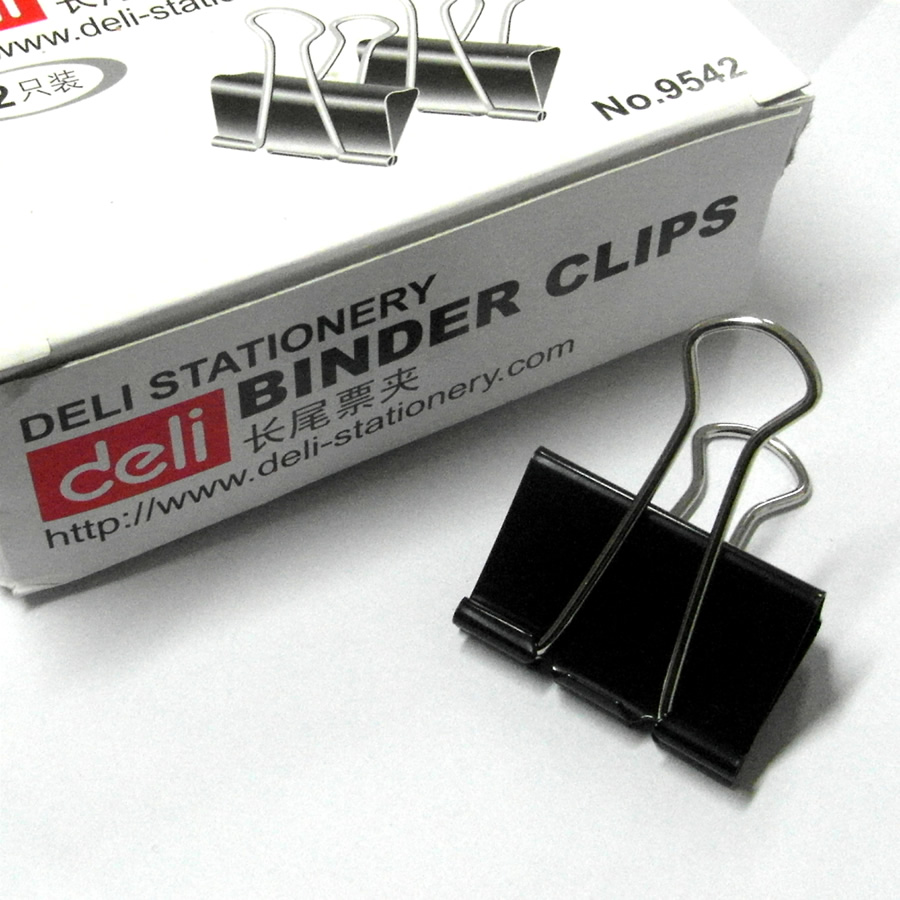 Kẹp Sắt Đen 41 mm Deli - 9542