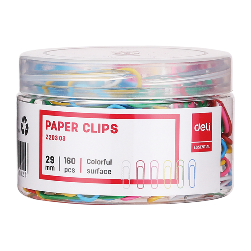 Kẹp giấy màu Deli- EZ20303 29MM