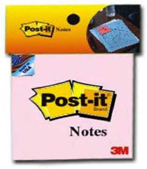 Giấy ghi chú hồng Post-it® 3M 76mm X 76mm 654