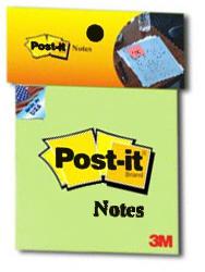 Giấy ghi chú xanh lá Post-it® 3M 76mm X 76mm 654