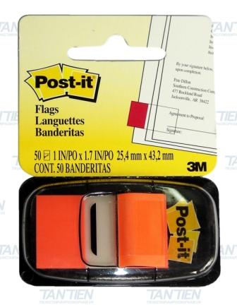 Miếng phân trang cam 3M POST-IT® 25mmX 43mm 50SH/PD 680-4