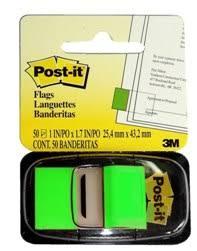 Miếng phân trang xanh lá 3M POST-IT® 25mmX 43mm 48/CS 680-22