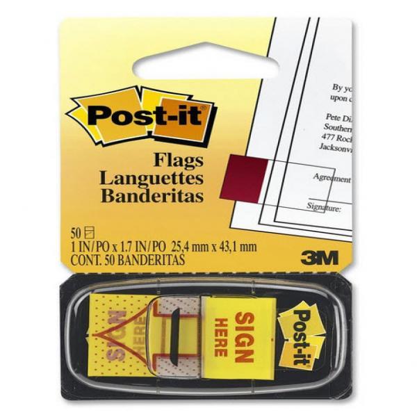 Miếng đánh dấu Signhere trình ký 3M POST-IT® 25mmX 43mm 680-9