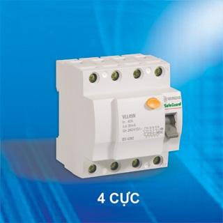 Aptomat chống giật RCCB Sino VLL45N 4 cực 20A 100mA