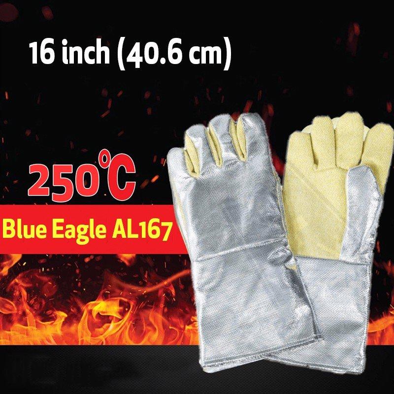 Bao Tay Cách Nhiệt Blue Eagle AL165 16 Inch Chịu Nhiệt 250°C