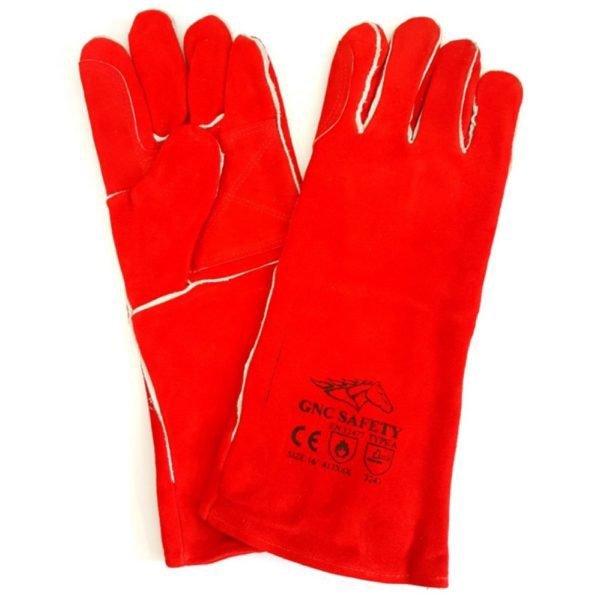 Găng Tay Da Hàn GNC Safety Màu Đỏ 14-16″