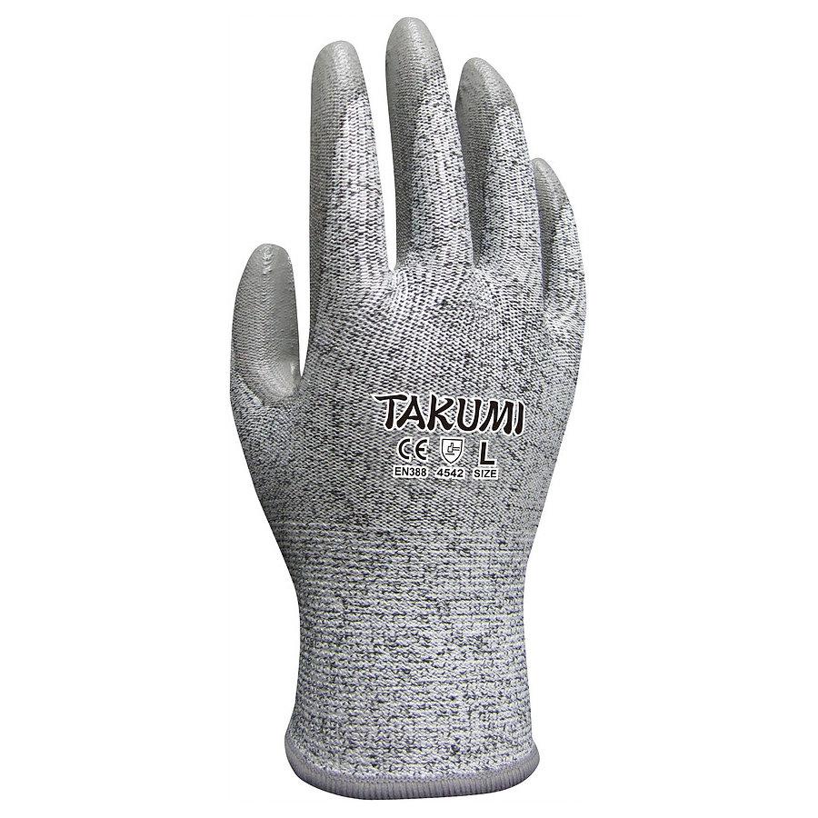 Găng tay chống cắt Takumi P-775 / sợi HPPE, phủ PU
