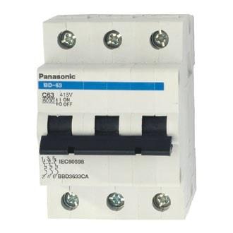 MCB 3P 6A 6KA 415VAC BBD3063CA