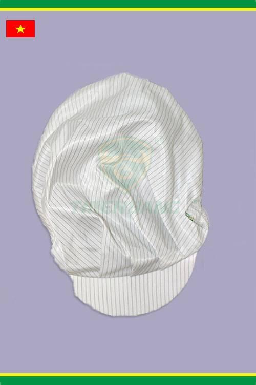 Mũ phòng sạch chống tĩnh điện trắng