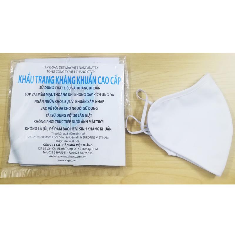 Khẩu trang vải kháng khuẩn Vinatex KTVT30