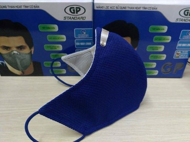 Khẩu trang vải than hoạt tính GP Standard (đeo qua tai)