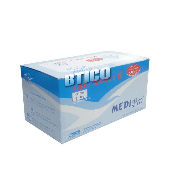 Khẩu trang y tế Medipro (than hoạt tính – 04 lớp)