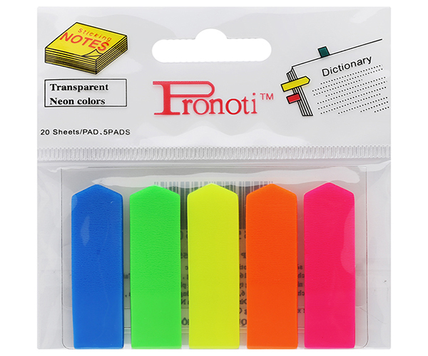 Giấy note 5 màu mũi tên Pronoti