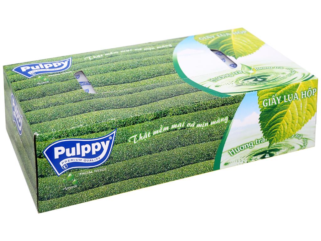 Khăn giấy hộp Pulppy 100 tờ