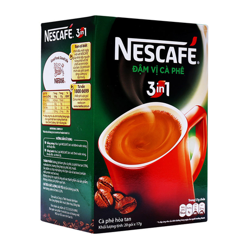 Nescafé Cà Phê Sữa Đá 3in1 (20g / Gói) màu xanh