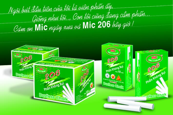 Phấn trắng không bụi MIC 206