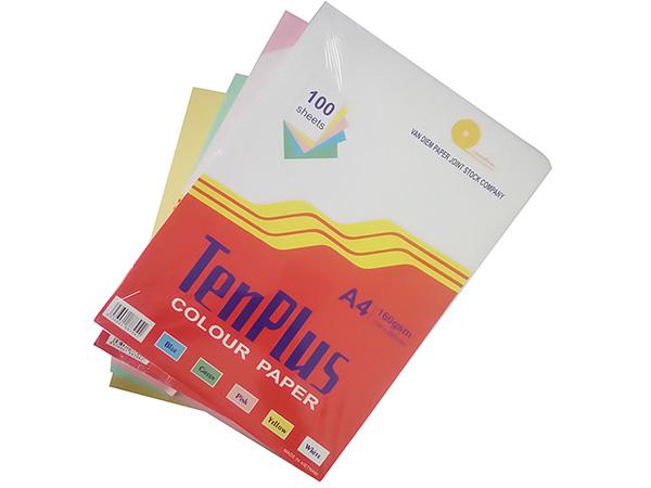 Giấy bìa màu A4 Tenplus - Màu trắng