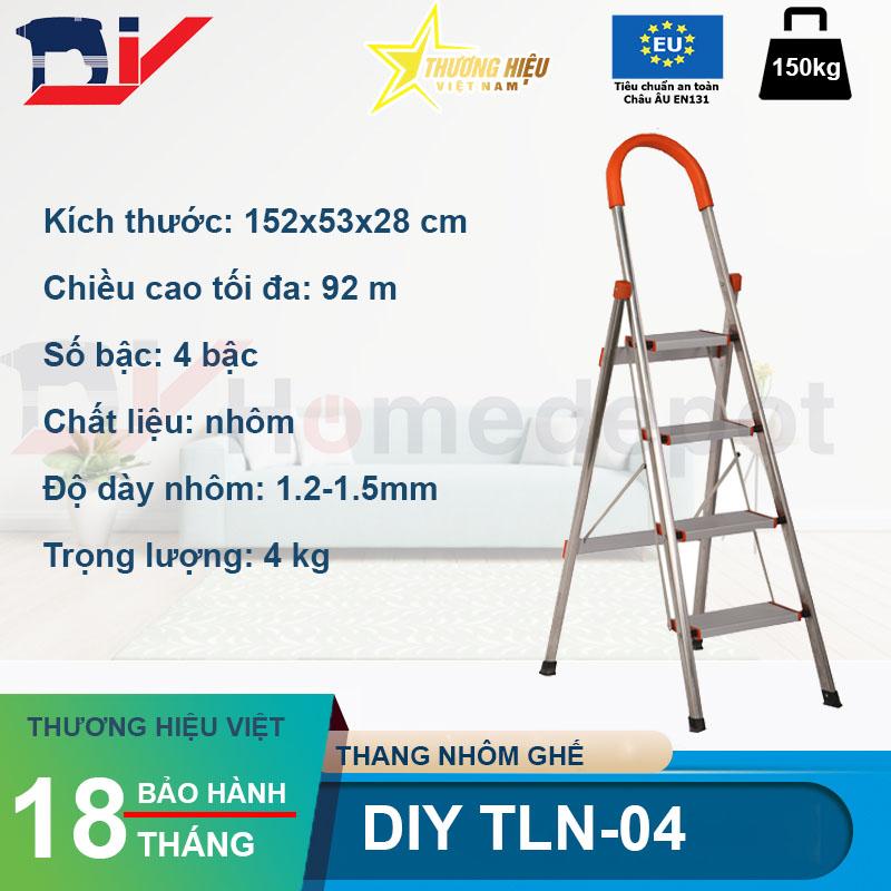 Thang nhôm ghế bậc DIY TLN-04