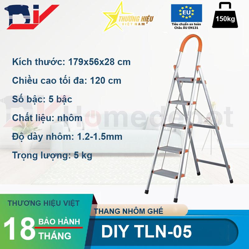 Thang nhôm ghế DIY TLN-05