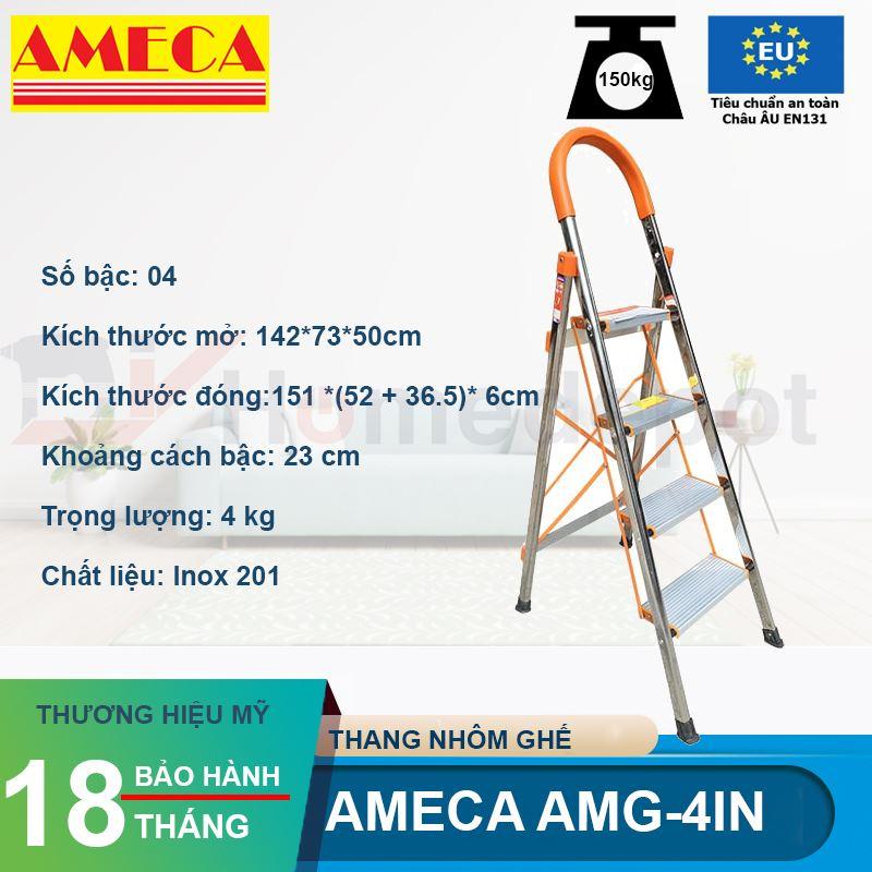 Thang Ghế Inox Ameca AMG-4IN