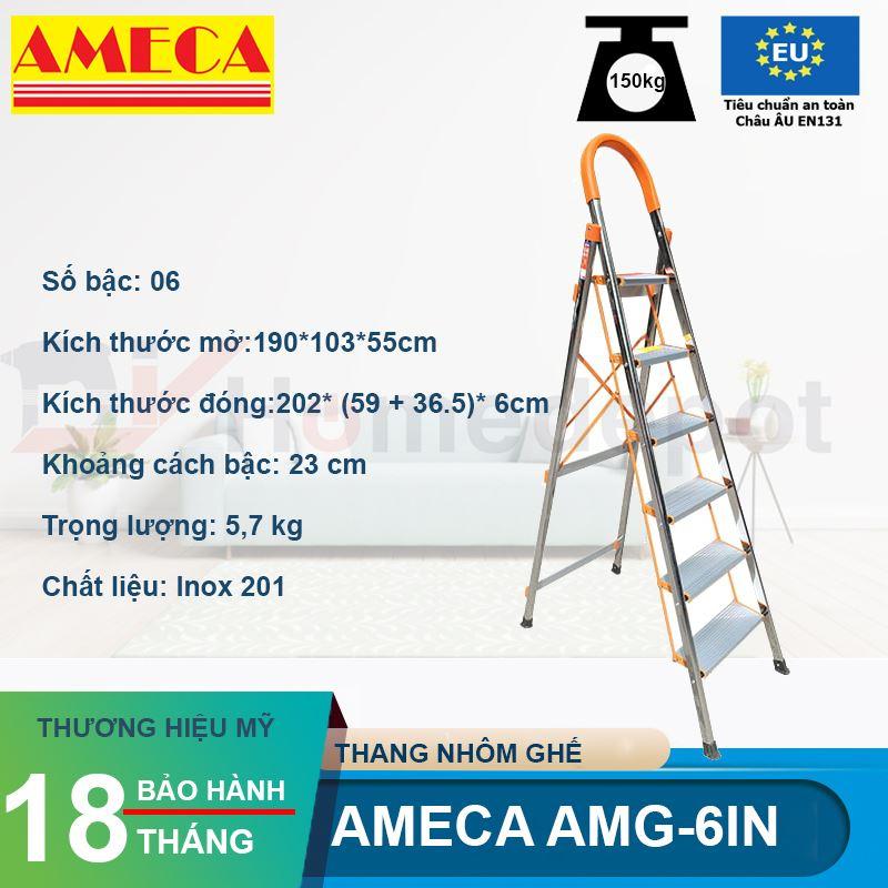 Thang Ghế Inox Ameca AMG-6IN