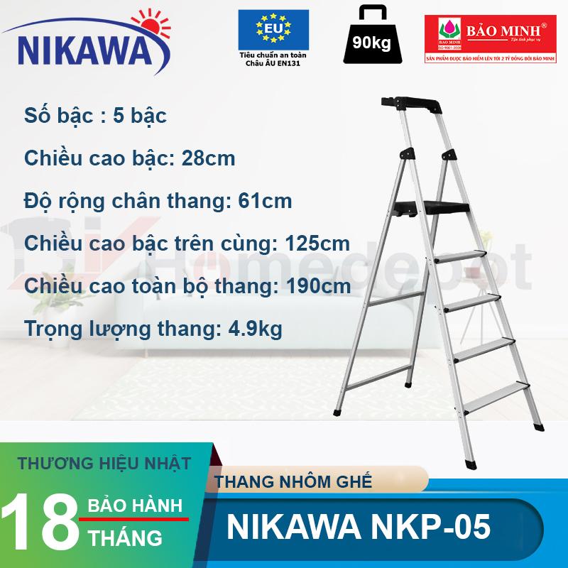 Thang nhôm ghế Nikawa NKP-05