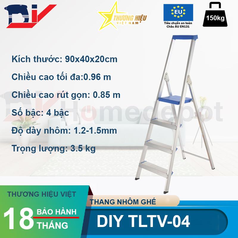 Thang nhôm ghế DIY TLTV-04