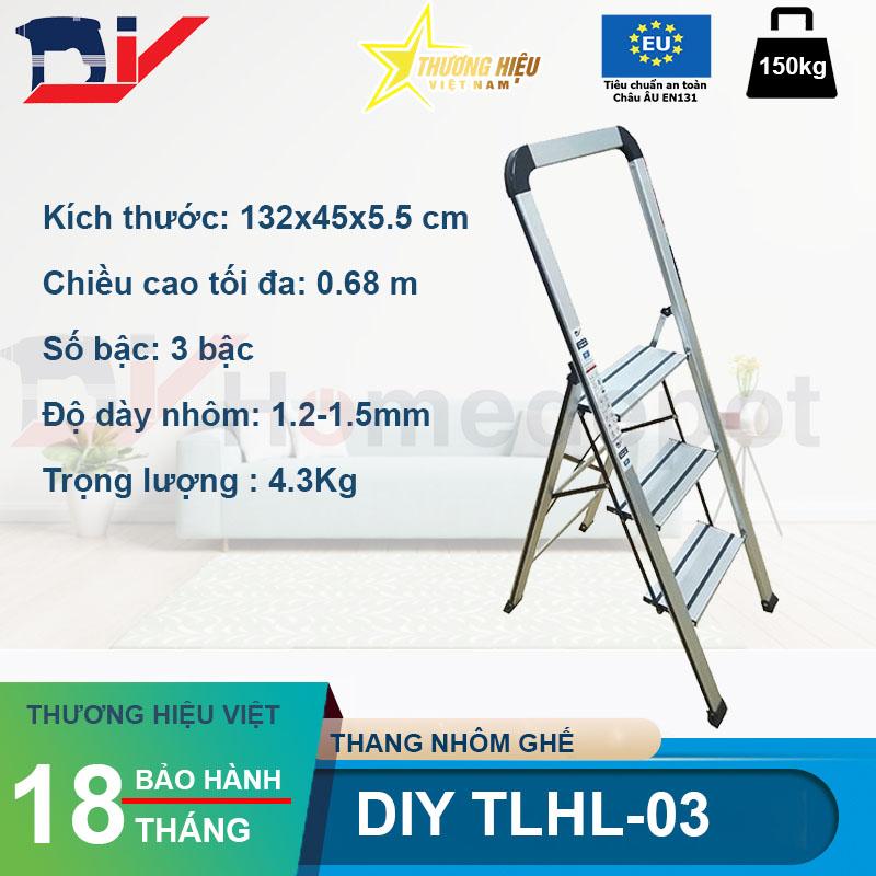 Thang nhôm ghế DIY TLHL-03