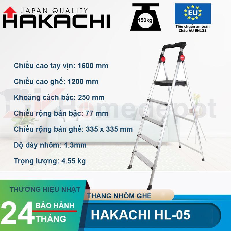 Thang nhôm ghế Hakachi HL-05