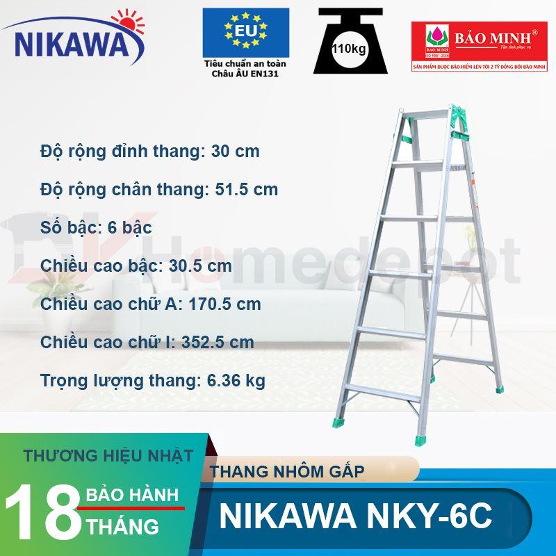 Thang nhôm gấp Nikawa NKY-6C