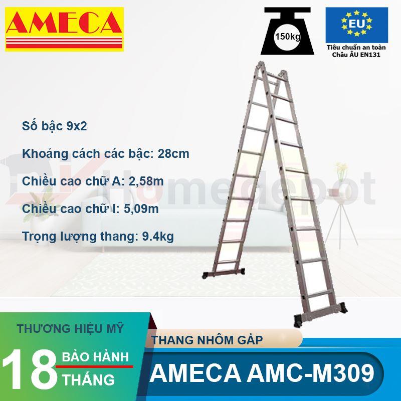 Thang Chữ A Khóa Tự Động Ameca AMC-M309