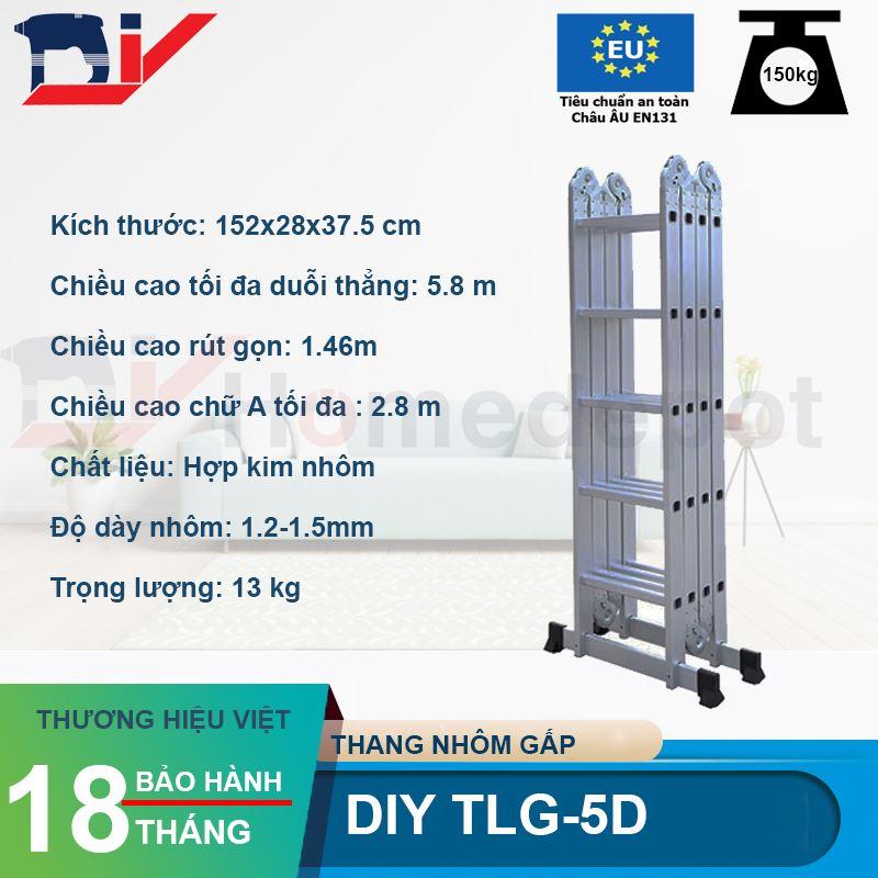 Thang nhôm gấp đoạn DIY TLG-5D