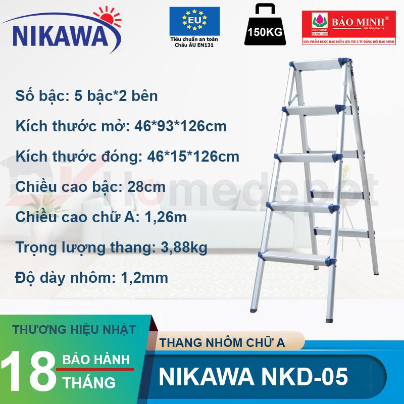 Thang nhôm gấp chữ A Nikawa NKD-05