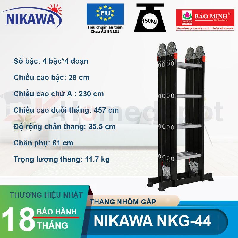 Thang nhôm gấp đoạn Nikawa NKG-44