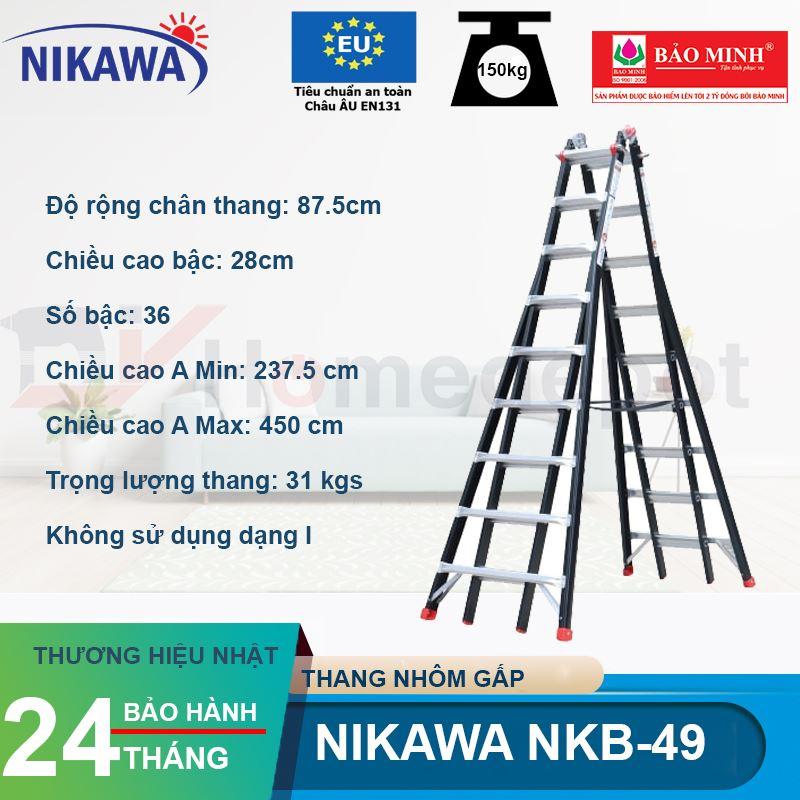 Thang nhôm gấp đa năng Nikawa NKB-49