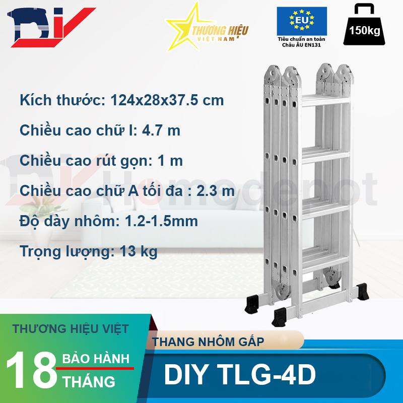 Thang nhôm gấp đoạn DIY TLG-4D