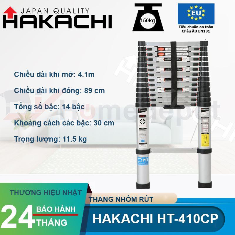 Thang nhôm rút đơn Hakachi HT-410CP