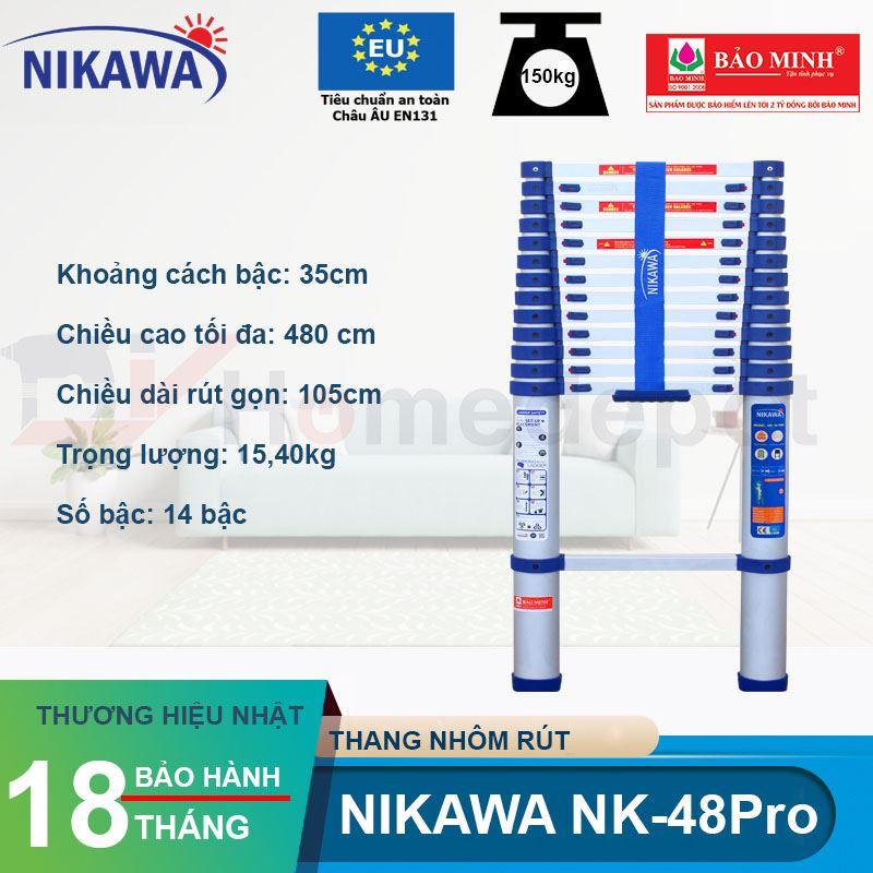 Thang nhôm rút đơn Nikawa NK-48PRO