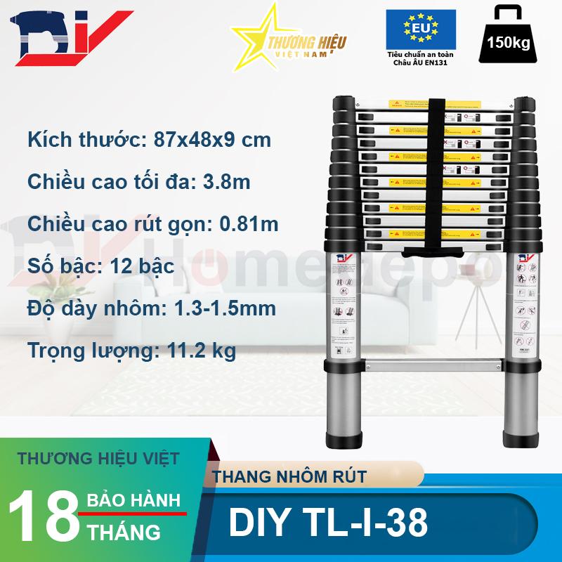 Thang Nhôm Rút Đơn DIY TL-I-38