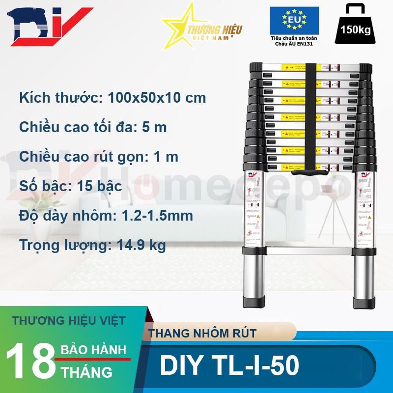 Thang nhôm rút đơn DIY TL-I-50
